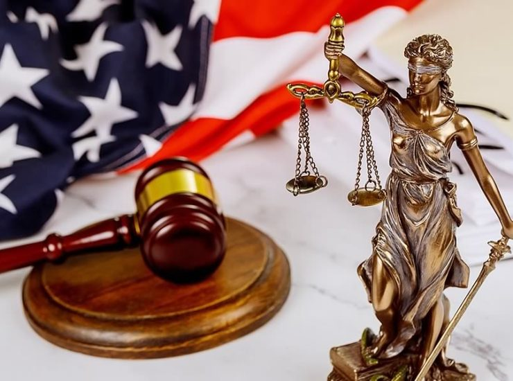 Lady Justice at Donna Furey law office